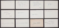 Baseball Collectibles:Others, 1917 Major League Baseball Debut Year Signed Index Cards andGovernment Postcards Lot of 32....