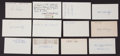 Baseball Collectibles:Others, 1913 Major League Baseball Debut Year Signed Index Cards andGovernment Postcards Lot of 73. ...
