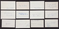 Baseball Collectibles:Others, 1919 Major League Baseball Debut Year Signed Index Cards andGovernment Postcards Lot of 98. ...