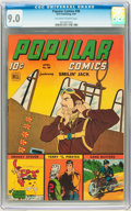 Golden Age (1938-1955):Adventure, Popular Comics #98 (Dell, 1944) CGC VF/NM 9.0 Off-white to white pages....