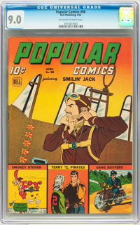 Popular Comics #98 (Dell, 1944) CGC VF/NM 9.0 Off-white to white pages