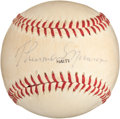 Autographs:Baseballs, Circa 1977 Thurman Munson Single Signed Baseball....