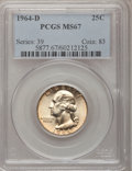 Washington Quarters, 1964-D 25C MS67 PCGS....