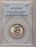 Washington Quarters, 1938 25C MS67 PCGS....