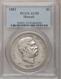 Coins of Hawaii, 1883 $1 Hawaii Dollar AU55 PCGS....