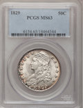 Bust Half Dollars, 1829 50C Small Letters MS63 PCGS. O-108a, R.3....