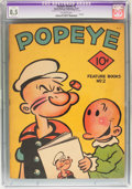 Platinum Age (1897-1937):Miscellaneous, Feature Books #2 Popeye (David McKay Publications, 1937) CGCApparent VF+ 8.5 Slight (A) Off-white pages....