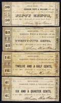 Obsoletes By State:Michigan, Grand Haven, MI- Robinson, White & Williams 6 1/4¢; 12 1/2¢; 25¢; 50¢ March 1838 Lee 1-4. ... (Total: 4 notes)