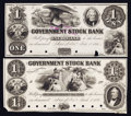 Obsoletes By State:Michigan, Ann Arbor, MI- Government Stock Bank $1 July 1, 1851 UNL Lee 6 Proof. Ann Arbor, MI- Government Stock Bank $1.75 Mar. 1,... (Total: 2 notes)