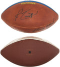 Football Collectibles:Balls, Greg Bell Signed Game Presentational Touchdown Football and Unsigned Rams Football....