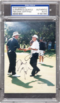 "Football Collectibles:Photos, Dan Quayle and Dan Marino Multi Signed PSA/DNA ""Authentic""...."