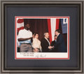 Basketball Collectibles:Photos, George H.W. Bush Signed Photograph, With Shaq Pictured....