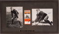 Football Collectibles:Photos, Gerald Ford Thrice Signed Photograph and 2002 East West Ticket Display. ...