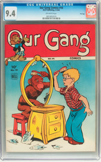 Our Gang Comics #10 File Copy (Dell, 1944) CGC NM 9.4 Off-white pages