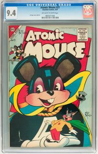 Atomic Mouse #21 (Charlton, 1957) CGC NM 9.4 Off-white to white pages