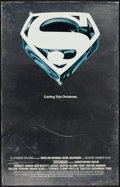 "Movie Posters:Action, Superman the Movie (Warner Brothers, 1978). Mylar One Sheet (25.25""X 39.5"") Advance. Action.. ..."