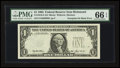 Error Notes:Third Printing on Reverse, Fr. 1918-E $1 1993 Federal Reserve Note. PMG Gem Uncirculated 66 EPQ.. ...