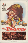 "Movie Posters:Adventure, The Pagans (Allied Artists, 1958). One Sheet (27"" X 41"").Adventure.. ..."