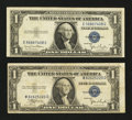 Error Notes:Error Group Lots, Fr. 1612 $1 1935C Silver Certificate. Fine-Very Fine.. Fr. 1613W $11935D Silver Certificate. Fine-Very Fine.. ... (Total: 2 notes)