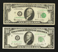 Error Notes:Error Group Lots, Fr. 2011-B $10 1950A Federal Reserve Note. About Uncirculated.. Fr.2021-L $10 1969C Federal Reserve Note. Very Good.. ... (Total: 2notes)