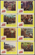 """Movie Posters:Western, Union Pacific (Paramount, R-1958). Lobby Card Set of 8 (11"""" X 14""""). Western.. ... (Total: 8 Items)"""