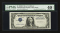 Error Notes:Inverted Third Printings, Fr. 1613W $1 1935D Wide Silver Certificate. PMG Extremely Fine 40EPQ.. ...