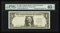 Error Notes:Third Printing on Reverse, Fr. 1913-D $1 1985 Federal Reserve Note. PMG Gem Uncirculated 65 EPQ.. ...