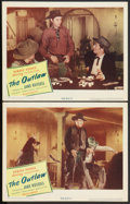"""Movie Posters:Western, The Outlaw (United Artists, 1946). Lobby Cards (2) (11"""" X 14""""). Western.. ... (Total: 2 Items)"""