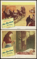 "Movie Posters:Western, The Outlaw (United Artists, 1946). Lobby Cards (2) (11"" X 14""). Western.. ... (Total: 2 Items)"