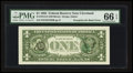 Error Notes:Third Printing on Reverse, Fr. 1913-D $1 1985 Federal Reserve Note. PMG Gem Uncirculated 66 EPQ.. ...
