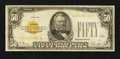 Small Size:Gold Certificates, Fr. 2404 $50 1928 Gold Certificate. Very Good+.. ...