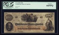 Confederate Notes:1862 Issues, T41 $100 1862 PF-11 Cr. 319A.. ...