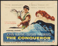 """Movie Posters:Action, The Conqueror (RKO, 1956). Half Sheet (22"""" X 28"""") Style B. Action....."""