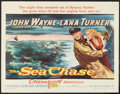 "Movie Posters:War, The Sea Chase (Warner Brothers, 1955). Half Sheet (22"" X 28"").War.. ..."