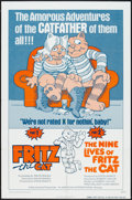 "Movie Posters:Animated, Fritz the Cat/The Nine Lives of Fritz the Cat Combo (AmericanInternational, R-1975). One Sheet (27"" X 41""). Animated.. ..."