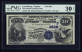 National Bank Notes:Virginia, Lynchburg, VA - $10 1882 Date Back Fr. 545 The National ExchangeBank Ch. # (S)2506. ...