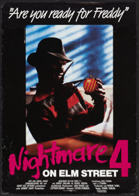 "A Nightmare on Elm Street 4: The Dream Master (New Line, 1988). German A1 (23"" X 33""). Horror. ... (Total: 2 I..."