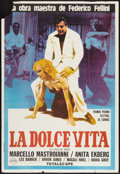 """Movie Posters:Foreign, La Dolce Vita (Rizzoli, R-1978). Argentinean Poster (29"""" X 42.5""""). Foreign.. ..."""
