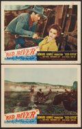 "Movie Posters:Western, Red River (United Artists, 1948). Lobby Cards (2) (11"" X 14""). Western.. ... (Total: 2 Items)"