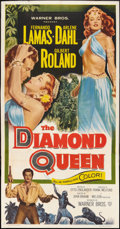 "Movie Posters:Adventure, The Diamond Queen (Warner Brothers, 1953). Three Sheet (41"" X 81"").Adventure.. ..."