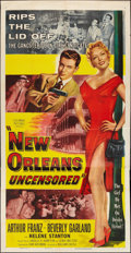 "Movie Posters:Crime, New Orleans Uncensored (Columbia, 1955). Three Sheet (41"" X 81"").Crime.. ..."