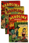 Golden Age (1938-1955):Crime, Headline Comics #25-30 Group (Prize, 1947-48).... (Total: 6 Comic Books)