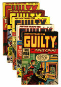 Golden Age (1938-1955):Crime, Justice Traps the Guilty Group (Prize, 1947-48).... (Total: 5 Comic Books)