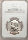 Kennedy Half Dollars: , 1981-P 50C MS68 NGC. NGC Census: (1/0). Mintage: 29,544,000.(#6739)...