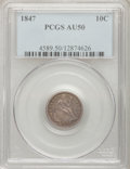 Seated Dimes: , 1847 10C AU50 PCGS. PCGS Population (2/33). NGC Census: (1/28). Mintage: 245,000. Numismedia Wsl. Price for problem free NG...