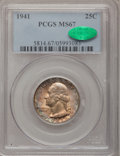 Washington Quarters: , 1941 25C MS67 PCGS. CAC. PCGS Population (84/1). NGC Census:(179/2). Mintage: 79,047,288. Numismedia Wsl. Price for proble...