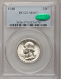 Washington Quarters: , 1948 25C MS67 PCGS. CAC. PCGS Population (61/1). NGC Census:(273/1). Mintage: 35,196,000. Numismedia Wsl. Price for proble...