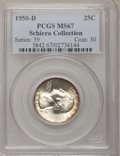 Washington Quarters: , 1950-D 25C MS67 PCGS. Ex: Schiera Collection. PCGS Population(37/0). NGC Census: (178/1). Mintage: 21,075,600. Numismedia ...