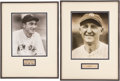 Baseball Collectibles:Others, Tony Lazzeri and Herb Pennock Signed Cut Signature Displays Lot of2....