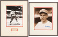 Baseball Collectibles:Photos, Carl Hubbell and Mel Ott Signed Displays Lot of 2....